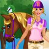 Barbie merge călărie joc