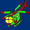 Fast vacation helicopter coloring joc