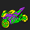 Fascinating and fast motorcycle coloring joc