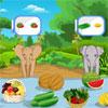 Hrana pentru animale elefanţi de copil joc