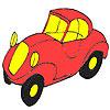 Prima masina coloraţie roşu joc