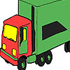 Camion mare verde colorat joc