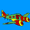 Jet airplane coloring joc