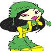 Lena si zapada de colorat joc