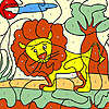 Leul mic colorat joc