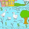 Little farm şi raţe coloranţi joc
