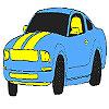 Magnific auto albastru colorat joc