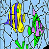 Oceanic pesti de colorat joc