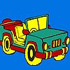 Colorarea jeep deschis de top joc