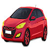 Hyundai roşu masina de colorat joc